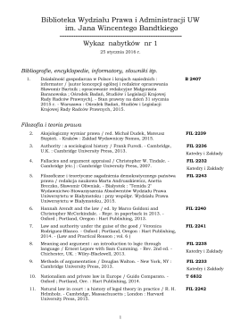 nabytki 1 [2016] - Wydział Prawa i Administracji UW