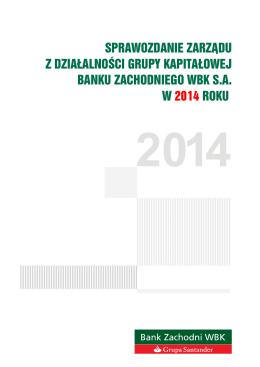 sprawozdanie zarządu z działalności grupy kapitałowej