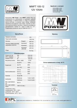 MWFT 105-12 12V 105Ah