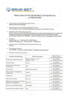 PDF DWU nr 4 KRAK 2015 - Kostka brukowa Standard - Bruk-Bet