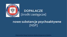 Państwowa Inspekcja Sanitarna - DOPALACZE [środki zastępcze]