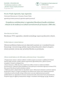 Poczta-Wajda Agnieszka, Sapa Agnieszka - HF2015