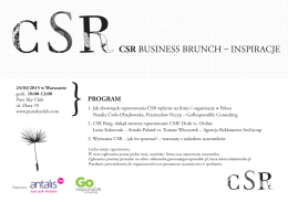 CSR Business brunch - inspiracje Antalis i GoResponsible
