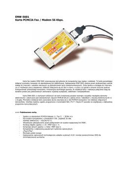 ENW-5601 Karta PCMCIA Fax / Modem 56 Kbps.