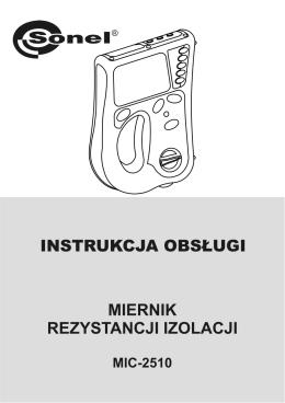 instrukcja obsługi miernik rezystancji izolacji mic-2510