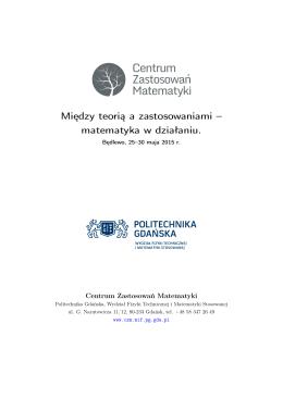 matematyka w działaniu. Bedlewo, 25–30 maja 2015