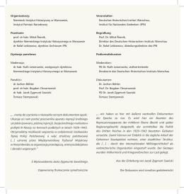 Organizatorzy - Deutsches Historisches Institut Warschau