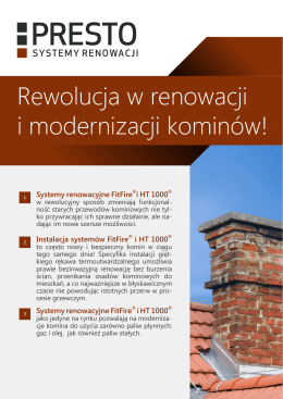 Rewolucja w renowacji i modernizacji kominów!