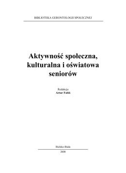 Pobierz - Biblioteka Gerontologii Społecznej
