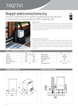 Katalog FAAC 740/741