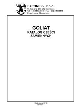 Katalog części zamiennych GOLIAT 2015-PL/EN/DE