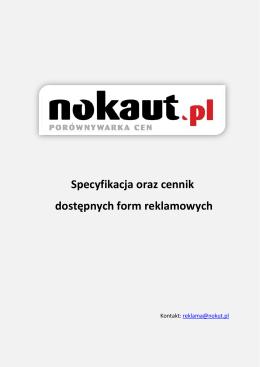Cennik reklam - Grupa Nokaut