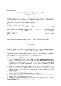 umowa-stołówka20152016 - Szkoła Podstawowa nr 99