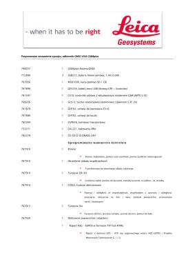 Proponowane zestawienie sprzętu, odbiornik GNSS VIVA GS08plus