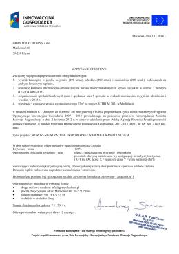 zapytanie ofertowe – PDF