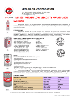 MJ-325. MITASU LOW VISCOSITY MV ATF 100