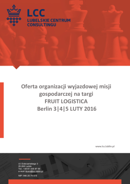 LCC_MG_FRUIT LOGISTICA_3-5.02.2016_BERLIN_Oferta