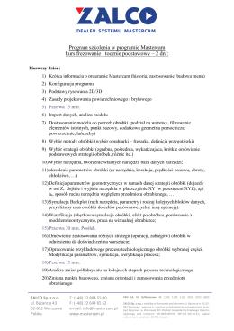 Program szkolenia - Zalco Sp. z o.o.