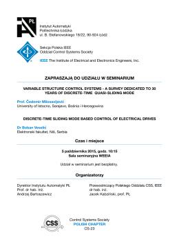 Zaproszenie na seminarium 2015.10.05