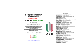 Ulotka informacyjna konferencji - format pdf