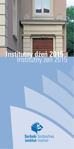 Institutny dźeń 2015 Institutny źeń 2015