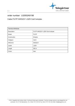 order number: L02002A0156