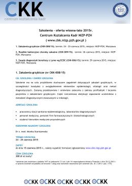 Zasady diagnostyki boreliozy z Lyme wg ECDC (CKK