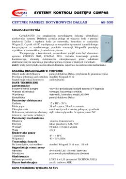 CZYTNIK PAMIĘCI DOTYKOWYCH DALLAS AS 530