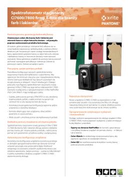 Spektrofotometr stacjonarny Ci7600/7800 firmy X