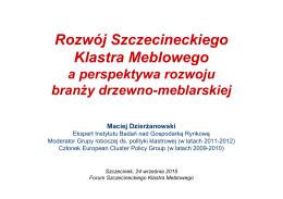 Rozwój Szczecineckiego Klastra Meblowego