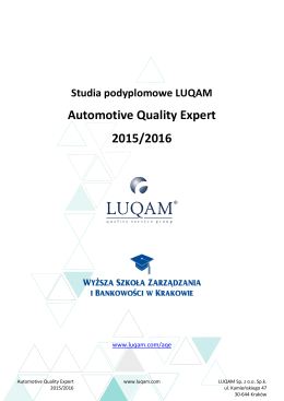 Automotive Quality Expert 2015/2016