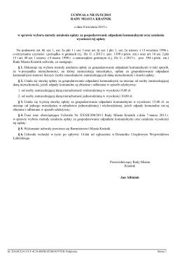 Uchwala Nr IX/51/2015 z dnia 8 kwietnia 2015 r.