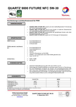 QUARTZ 9000 FUTURE NFC 5W30 - Total Fuel