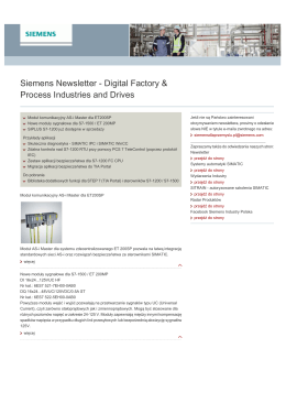 Siemens Newsletter - Digital Factory & Process Industries and Drives
