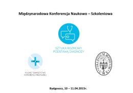 Międzynarodowa Konferencja Naukowo – Szkoleniowa