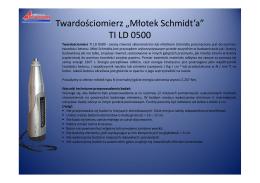 """Twardościomierz """"Młotek Schmidt`a"""" TI LD 0500"""