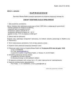 PZP.271.1.GR.2016 zaproszenie do składania ofert