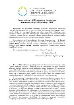 Sprawozdanie z VII Lubuskiego Sympozjum