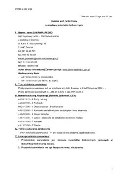 Formularz Ofertowy - Sąd Rejonowy Lublin