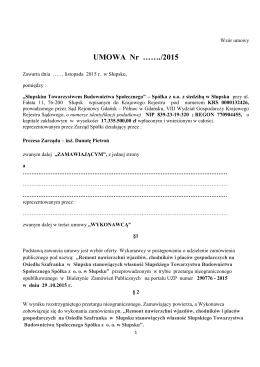 Wzór umowy - stbs.slupsk.pl