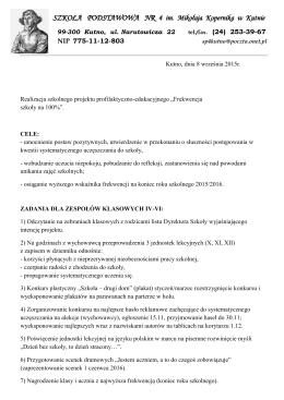 SZKOŁA PODSTAWOWA NR 4 im. Mikołaja Kopernika w Kutnie