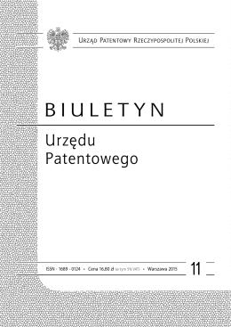 bup11_2015 - Wyszukiwarka Urzędu Patentowego