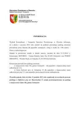 informacja - Powiat Otwocki