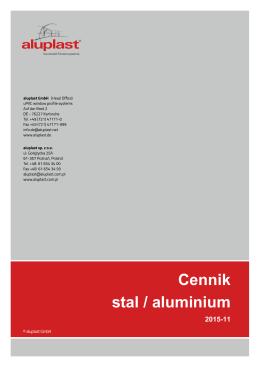 Cennik stal / aluminium