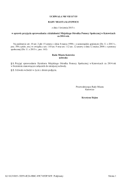 Uchwala Nr VII/117/15 z dnia 1 kwietnia 2015 r.