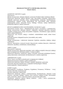 Program ćwiczeń 2 2015