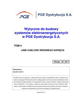 Wytyczne do budowy systemów elektroenergetycznych w PGE