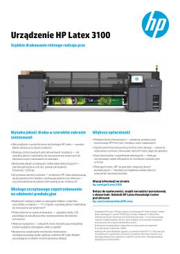 Urządzenie HP Latex 3100