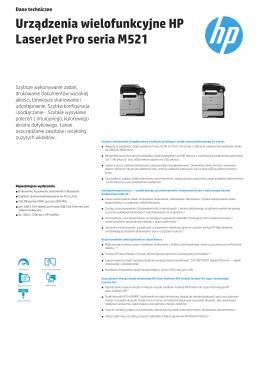Urządzenia wielofunkcyjne HP LaserJet Pro M521
