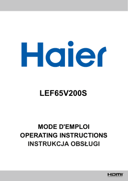 LEF65V200S - Haier.com Worldwide - Select your local country or